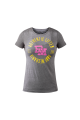 Authentic Lifter Plate Print ladies t-shirt With Yellow- Large