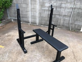 JME - V6 - Squat Rack & Flat Bench Combo