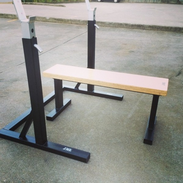Jme V5 Squat Stand Old School Bench Combo Jme