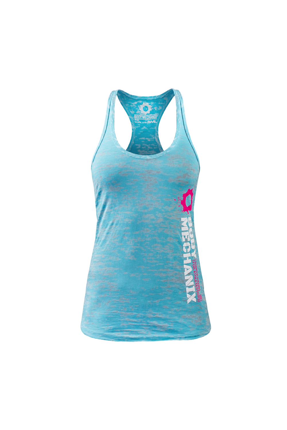 Body Mechanix Stack Burnout Ladies Blue Tank Small Jme